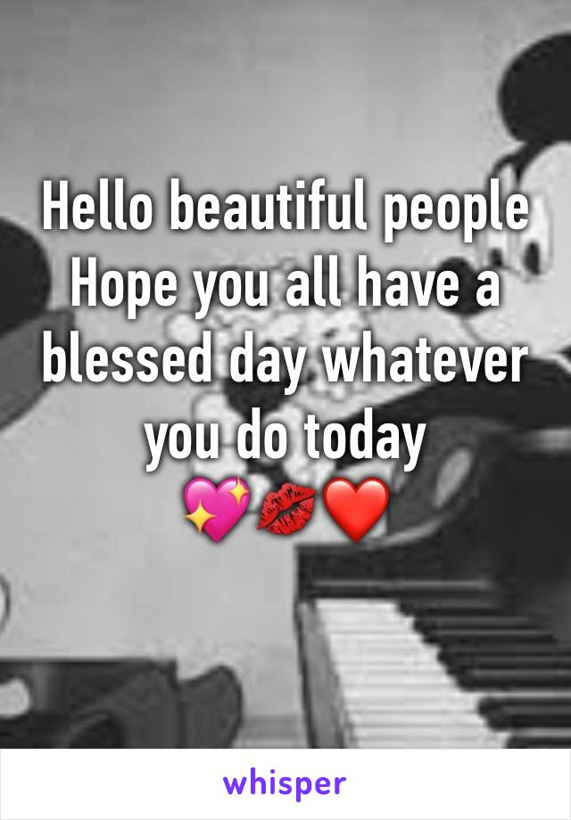 Hello beautiful people  Hope you all have a blessed day whatever you do today 💖💋❤️