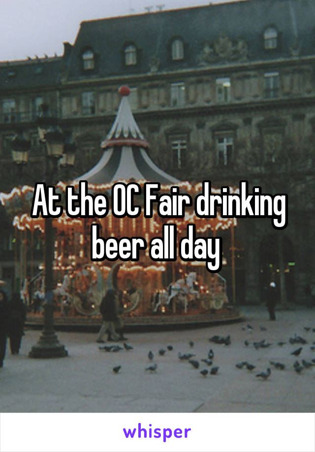 At the OC Fair drinking beer all day