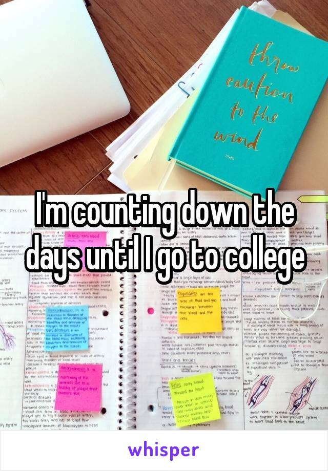 I'm counting down the days until I go to college