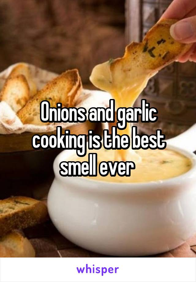 Onions and garlic cooking is the best smell ever