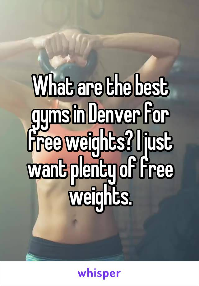 What are the best gyms in Denver for free weights? I just want plenty of free weights.