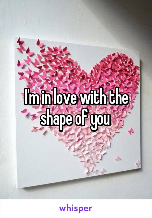 I'm in love with the shape of you