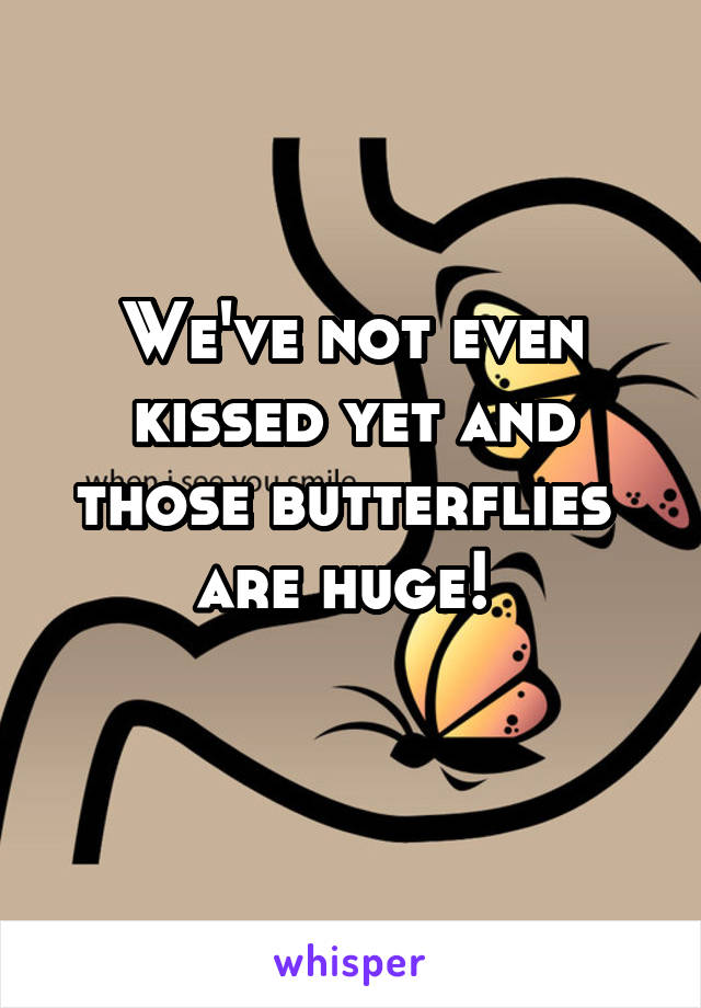 We've not even kissed yet and those butterflies  are huge!