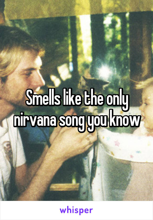 Smells like the only nirvana song you know