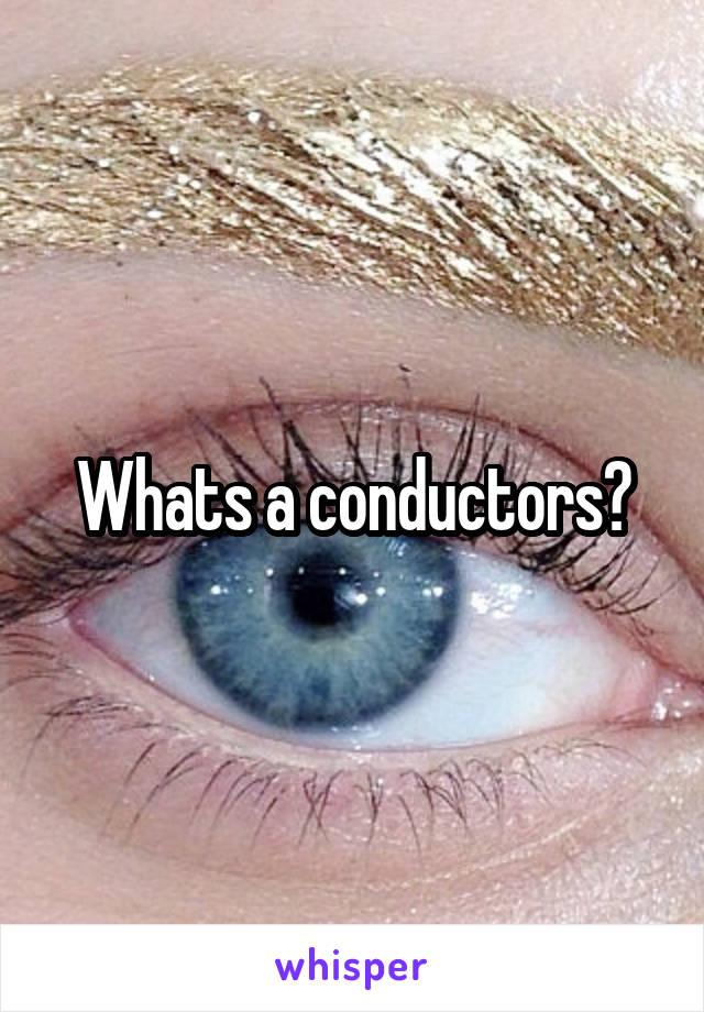 Whats a conductors?