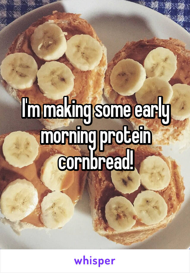 I'm making some early morning protein cornbread!