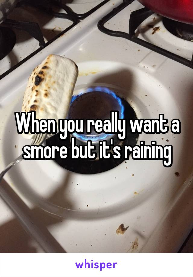 When you really want a smore but it's raining
