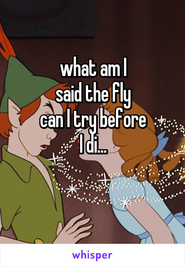 what am I said the fly can I try before I di...