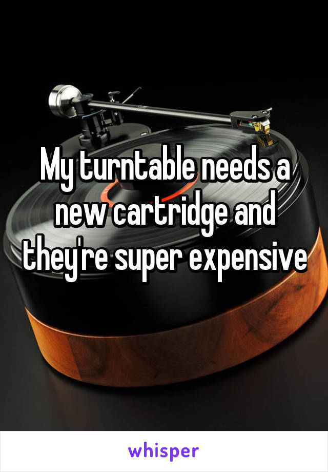 My turntable needs a new cartridge and they're super expensive
