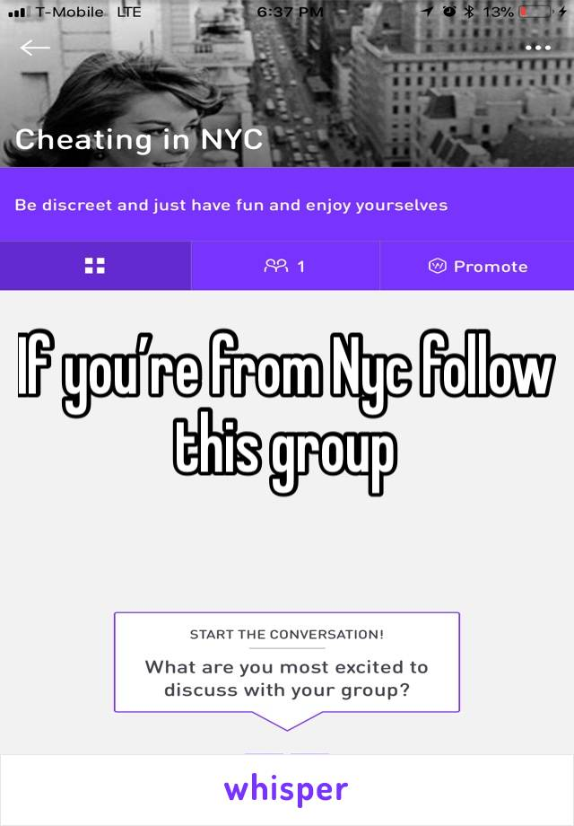 If you're from Nyc follow this group