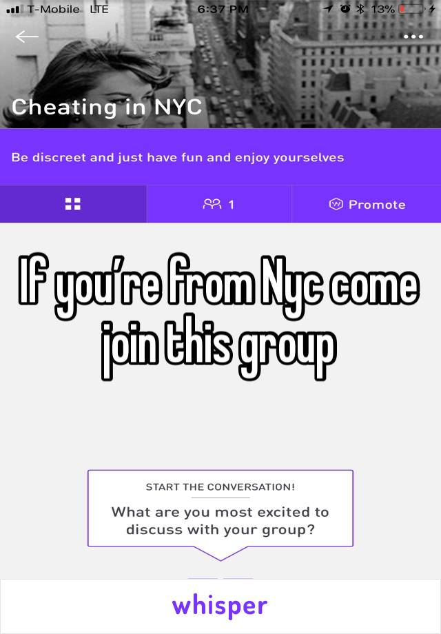 If you're from Nyc come join this group