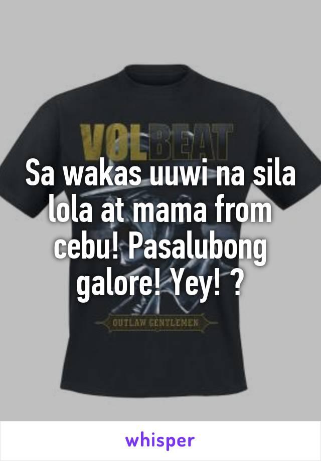 Sa wakas uuwi na sila lola at mama from cebu! Pasalubong galore! Yey! 😋