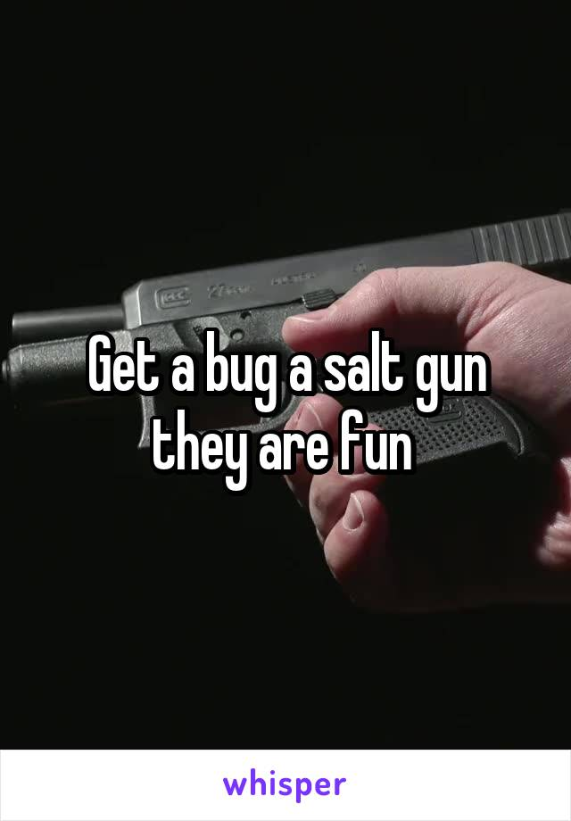 Get a bug a salt gun they are fun