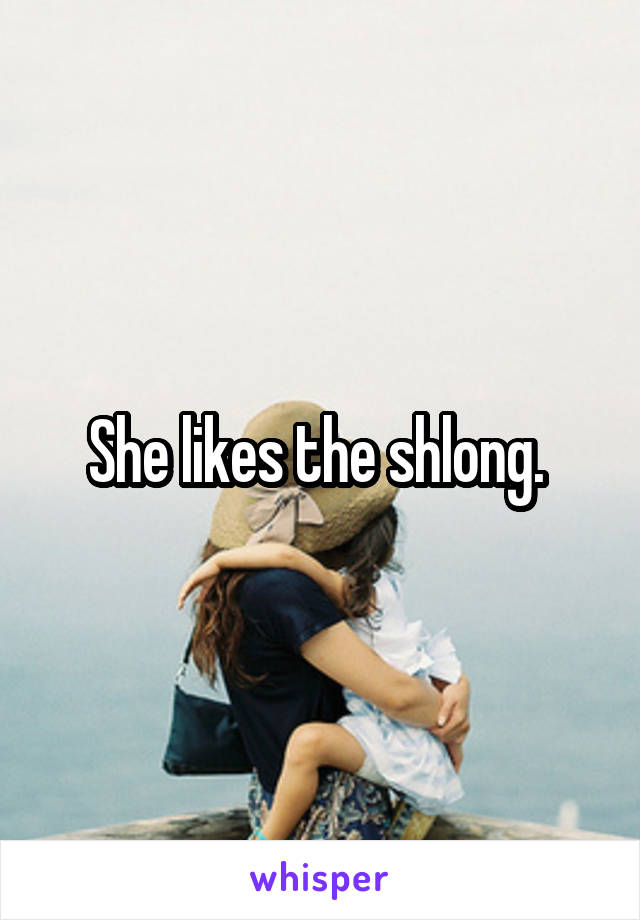 Love this shlong