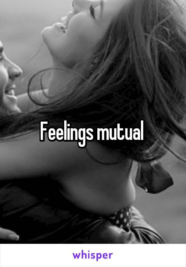 Feelings mutual