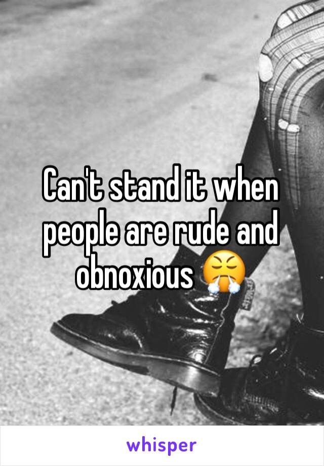 Can't stand it when people are rude and obnoxious 😤