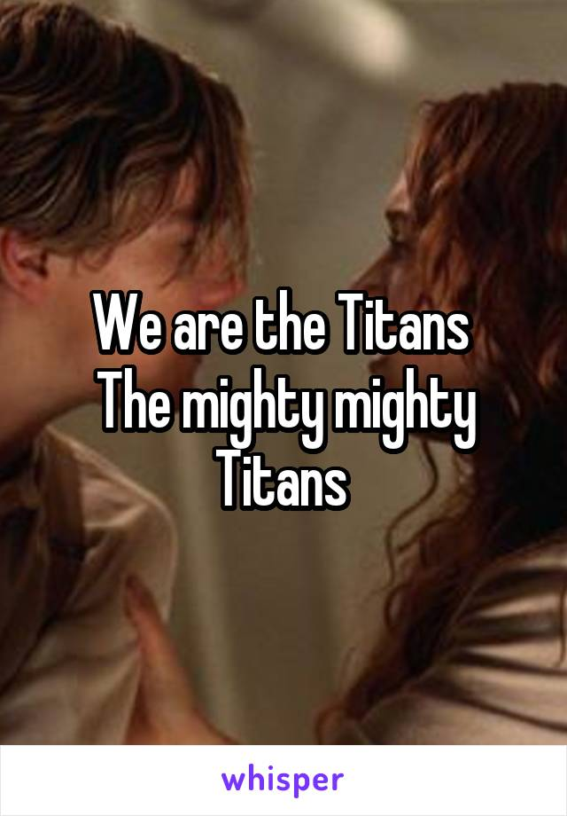 We are the Titans  The mighty mighty Titans
