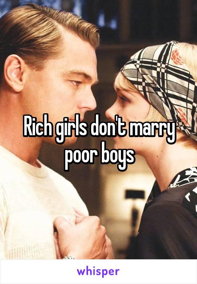 Rich girl dating poor boy