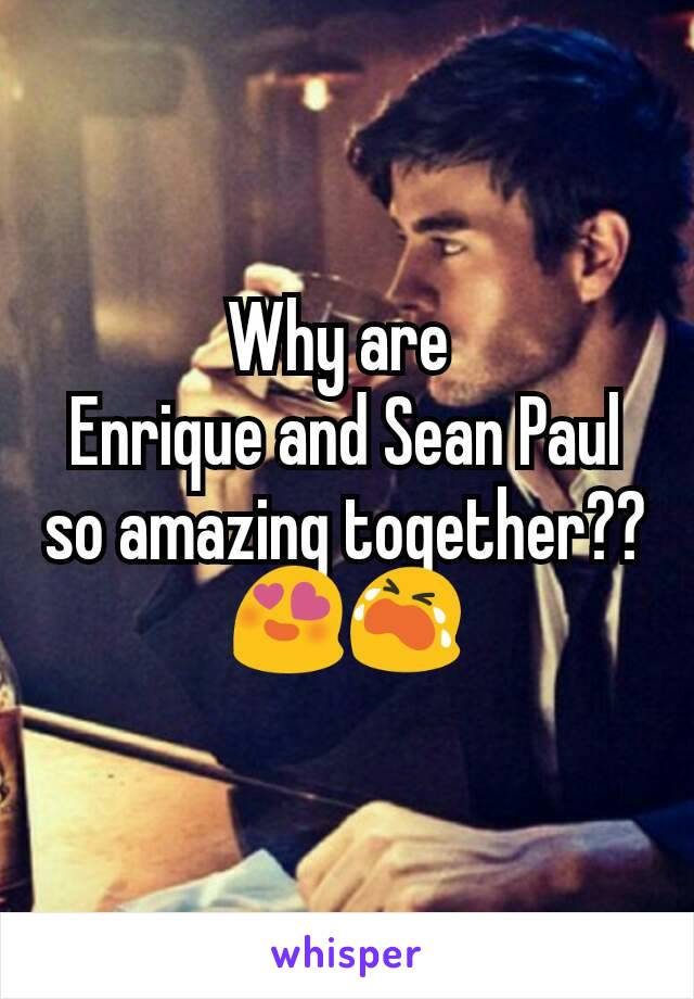 Why are  Enrique and Sean Paul so amazing together?? 😍😭