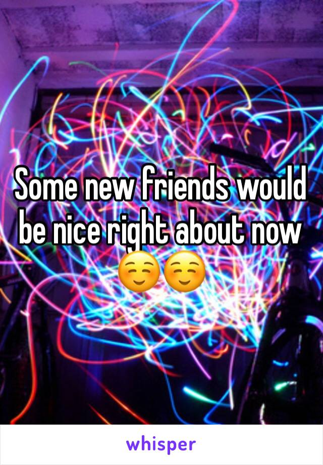 Some new friends would be nice right about now ☺️☺️