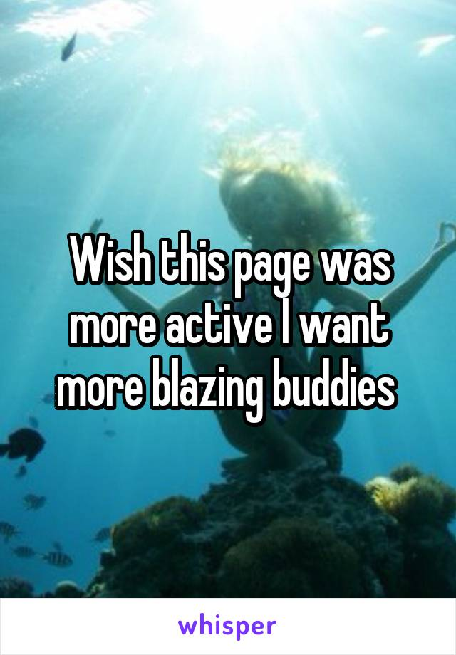 Wish this page was more active I want more blazing buddies