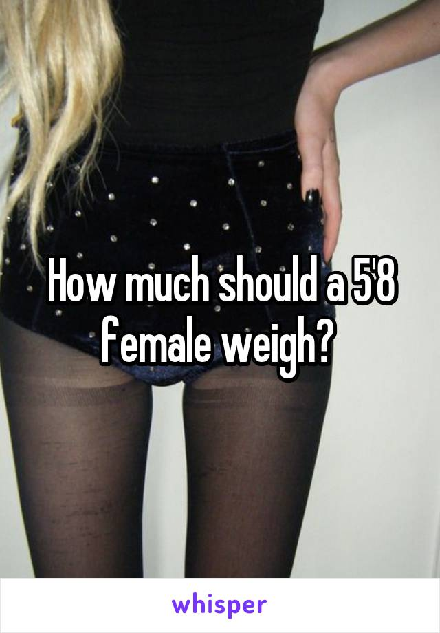 How much should a 5'8 female weigh?