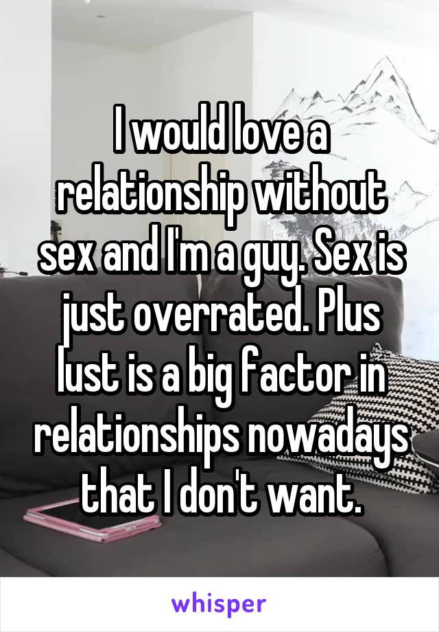 A relationship without sex