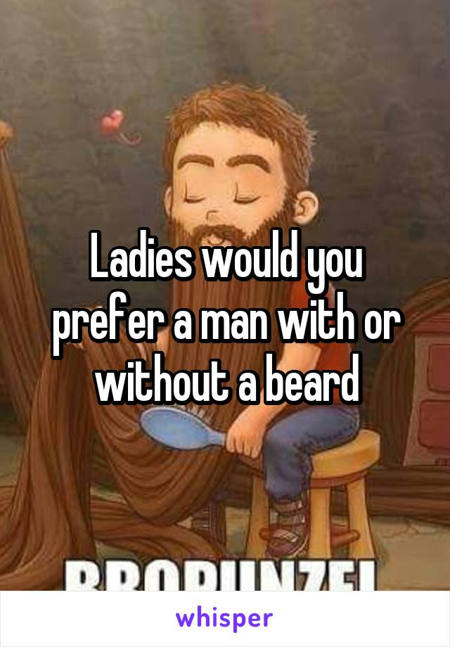 Ladies would you prefer a man with or without a beard