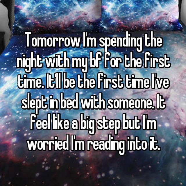 最初の時間に私のボーイフレンドと夜を過ごした