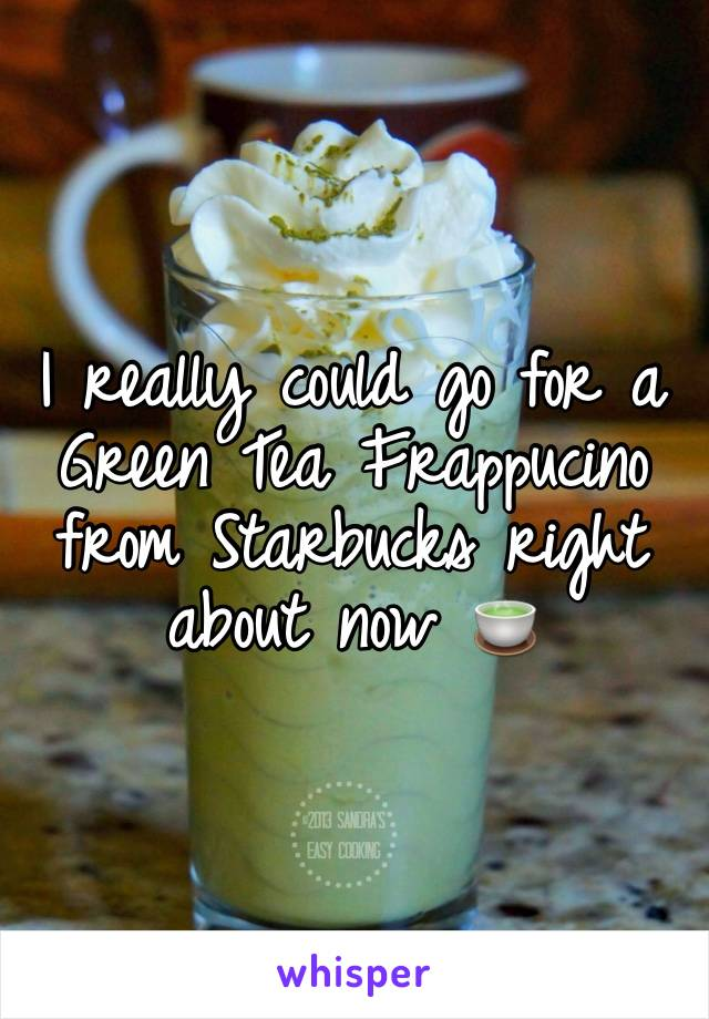 I really could go for a Green Tea Frappucino from Starbucks right about now 🍵
