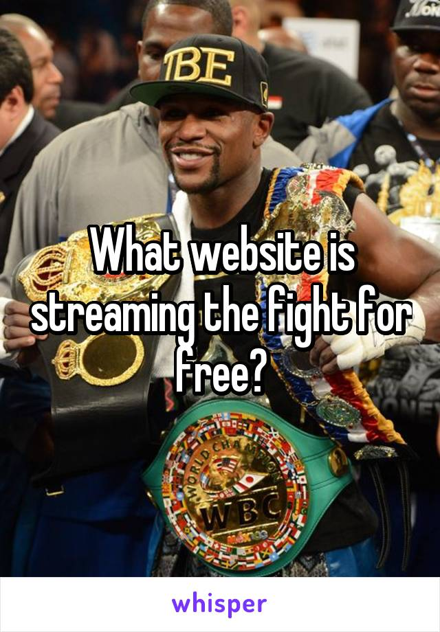 What website is streaming the fight for free?