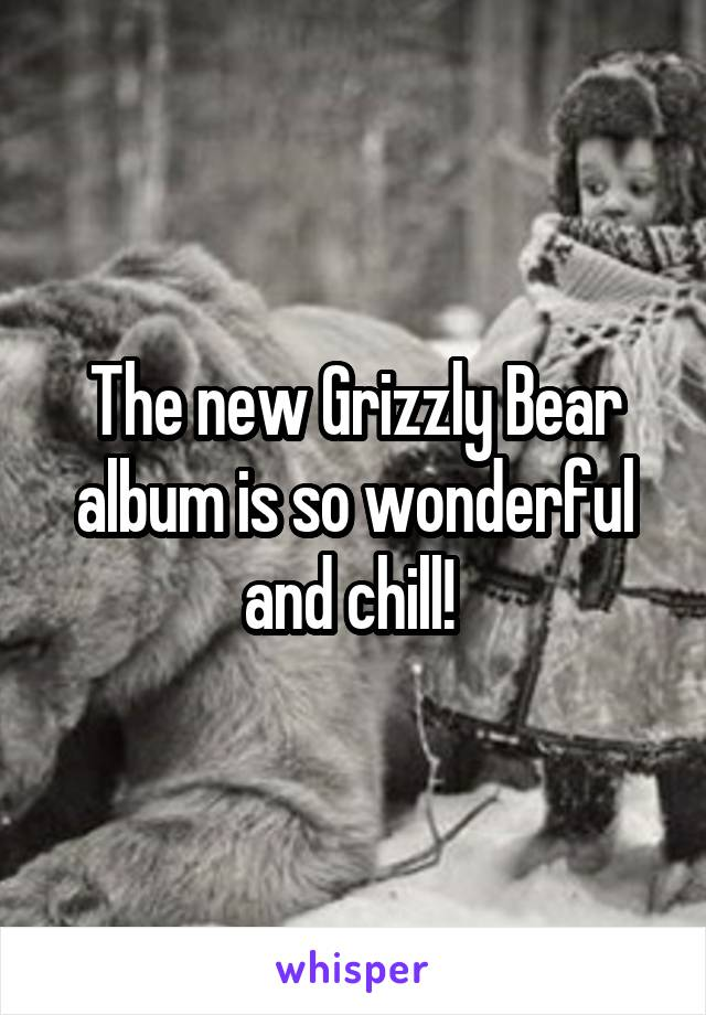 The new Grizzly Bear album is so wonderful and chill!