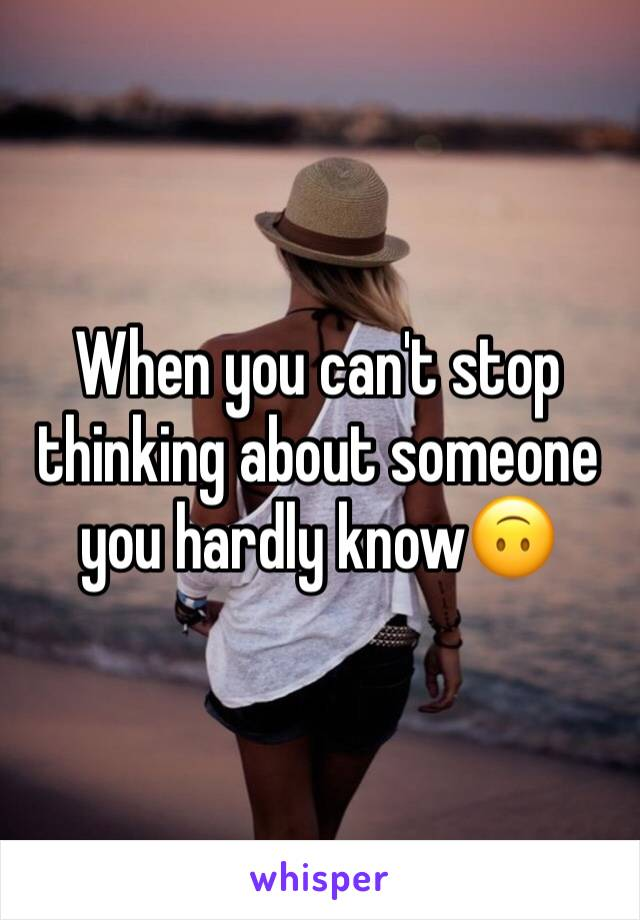 How can i stop thinking about someone