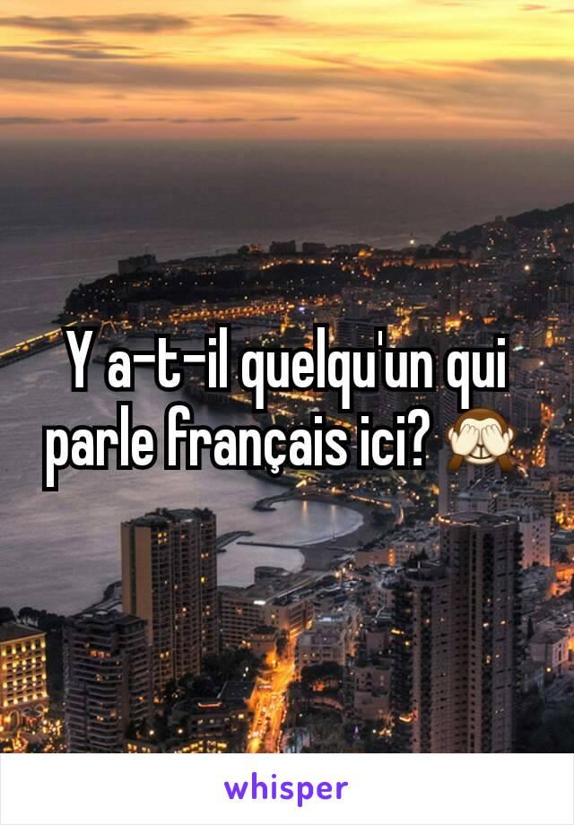 Y a-t-il quelqu'un qui parle français ici?🙈