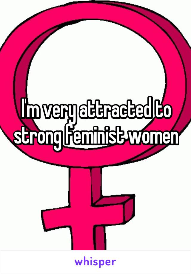 I'm very attracted to strong feminist women