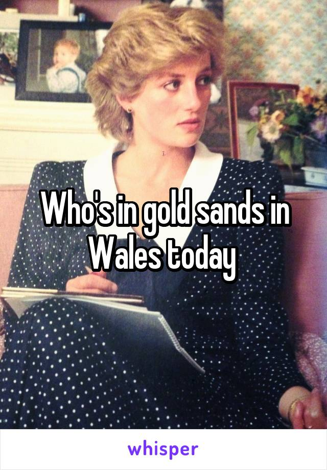 Who's in gold sands in Wales today