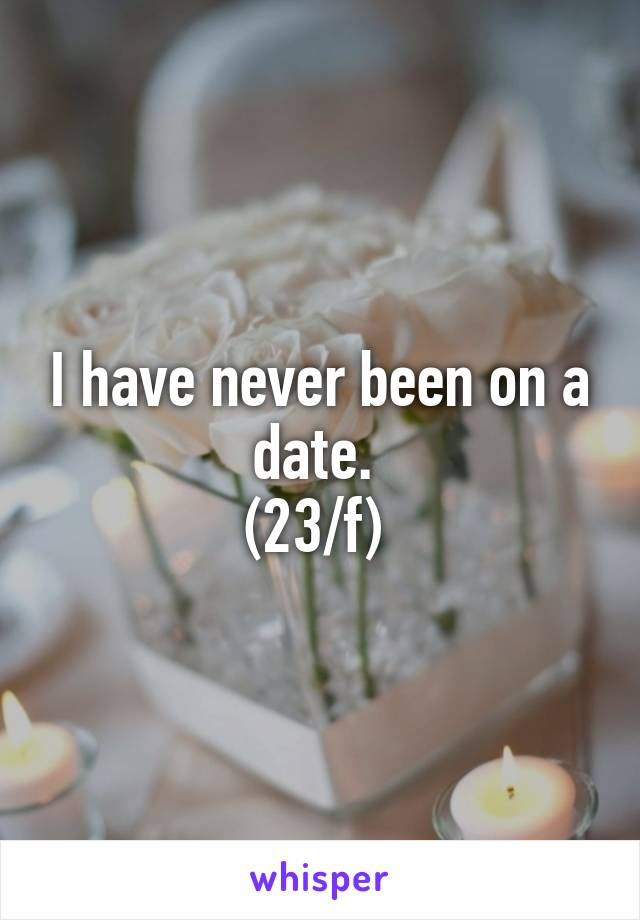 I have never been on a date.  (23/f)