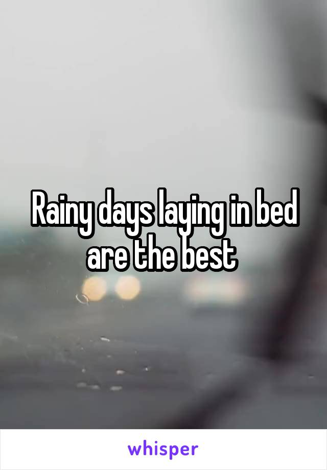 Rainy days laying in bed are the best