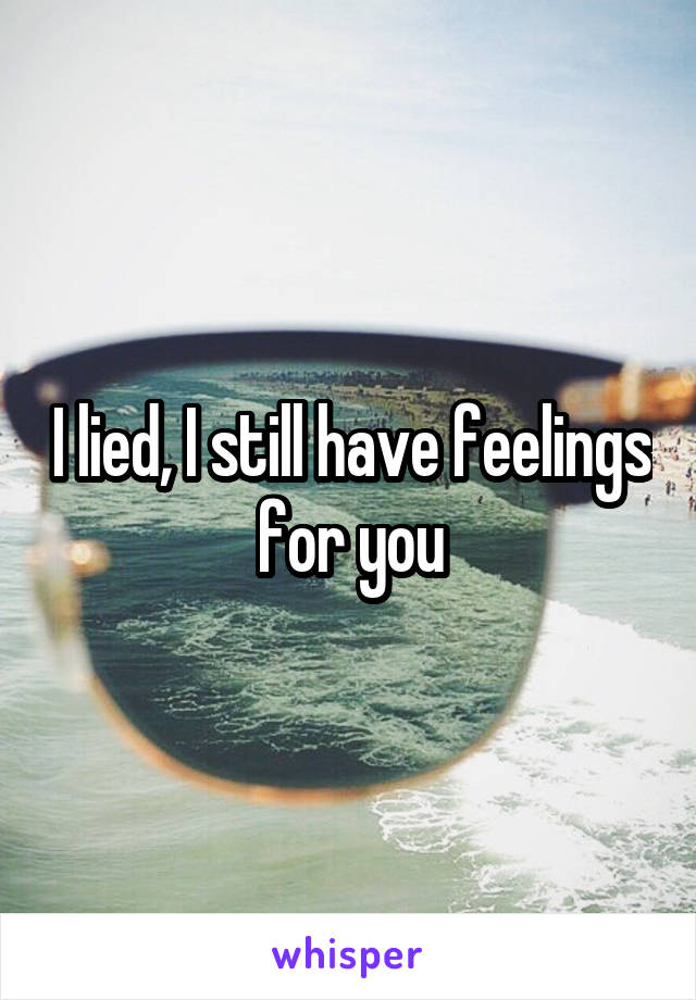 I lied, I still have feelings for you