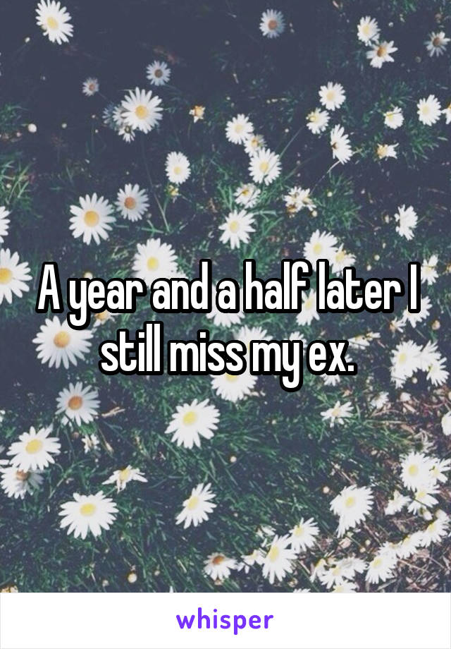 A year and a half later I still miss my ex.