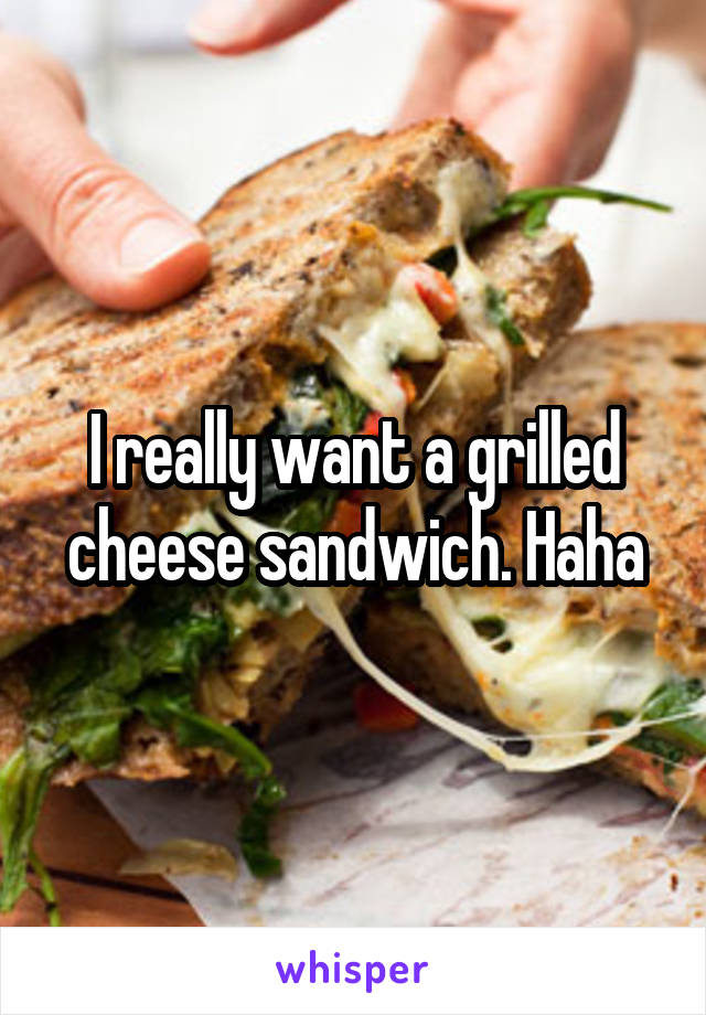 I really want a grilled cheese sandwich. Haha