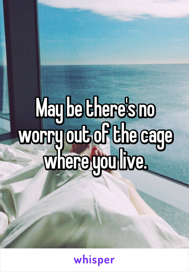 May be there's no worry out of the cage where you live.