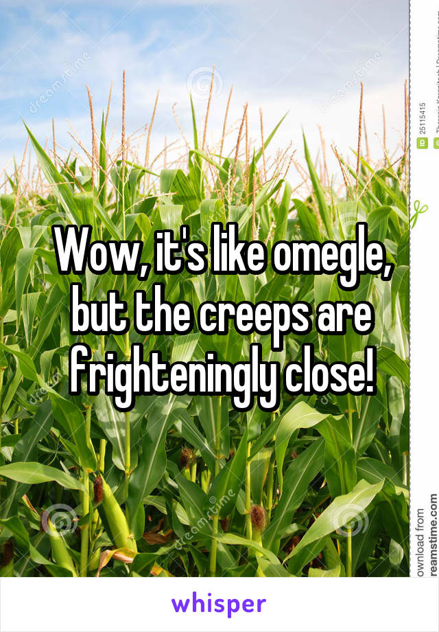Wow, it's like omegle, but the creeps are frighteningly close!