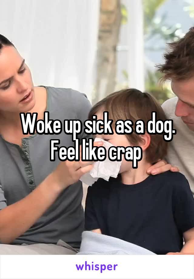 Woke up sick as a dog. Feel like crap