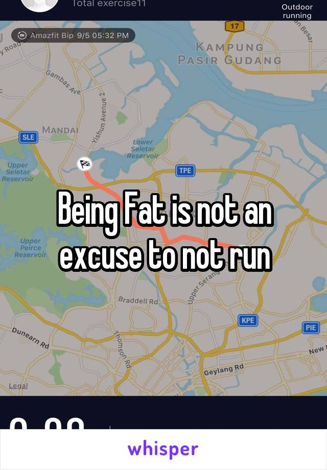 Being Fat is not an excuse to not run