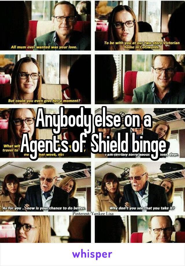 Anybody else on a Agents of Shield binge