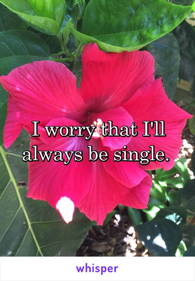 I worry that I'll always be single.