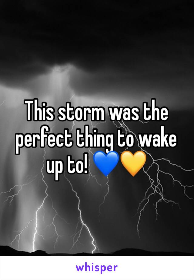 This storm was the perfect thing to wake up to! 💙💛