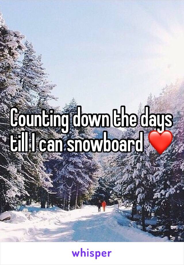 Counting down the days till I can snowboard ❤️