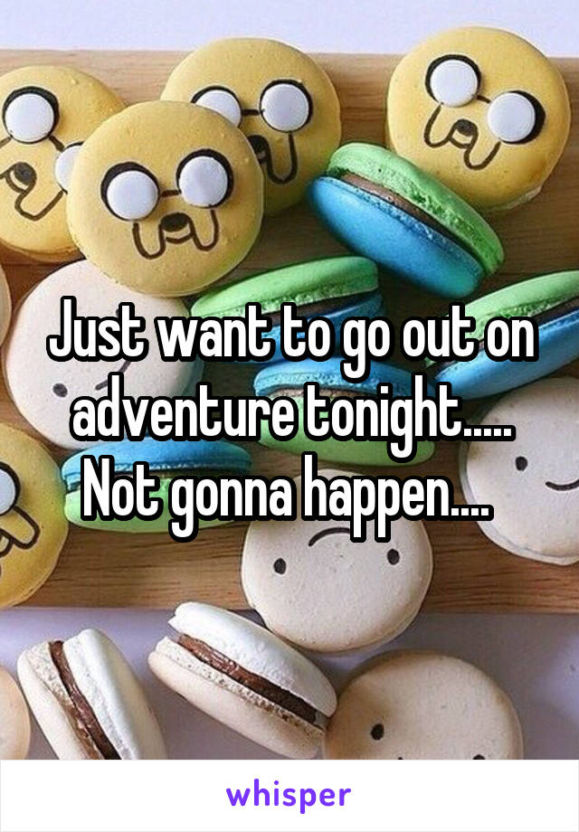 Just want to go out on adventure tonight..... Not gonna happen....